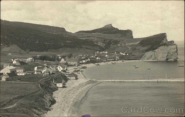 View of Town Perce/Gaspe Canada Quebec