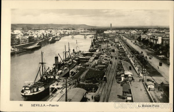 View of Port Seville Spain Spain, Portugal