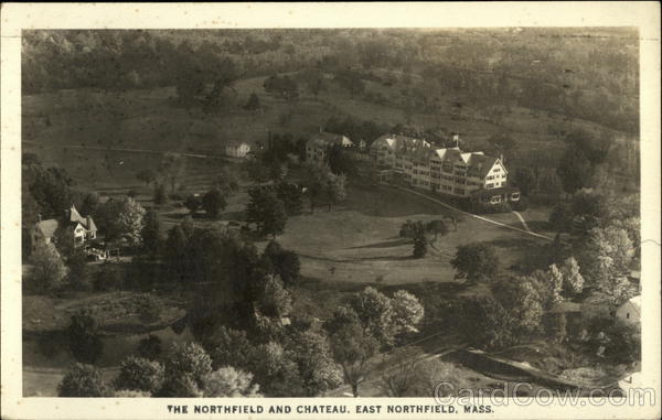 Bird's Eye View of The Northfield and Chateau East Northfield Massachusetts