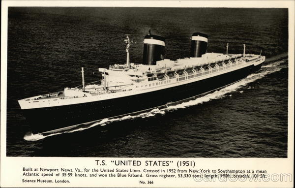 T. S. United States (1951) Boats, Ships
