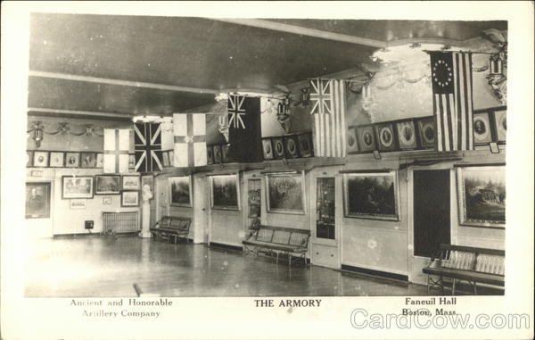 Ancient and Honorable Artillery Company - The Armory - Faneuil Hall Boston Massachusetts