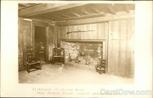 Living Room of Paul Revere House Boston Massachusetts