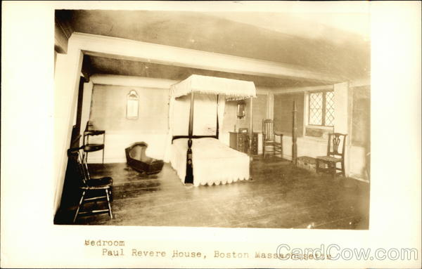 Bedroom In The Paul Revere House Boston Massachusetts
