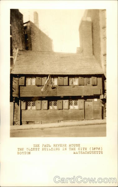 The Paul Revere House - The Oldest Building in the City - 1676 Boston Massachusetts