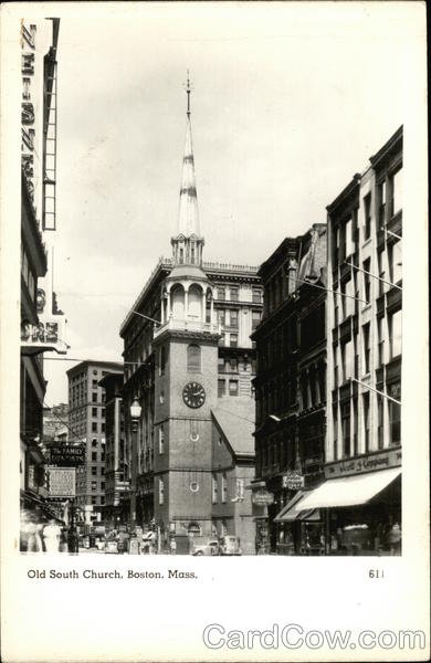 Street View of Old South Church Boston Massachusetts