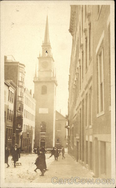 View of Old North Church Boston Massachusetts
