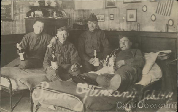 Soldiers Drinking Champagne, Feb. 14, 1919 Germany