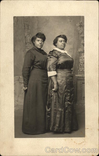 Portrait of Two African American Sisters Black Americana
