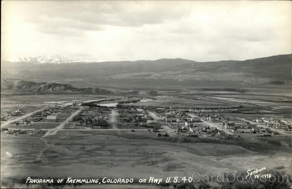 Panorama of Kremmling Colorado