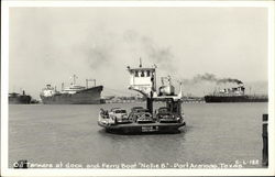 Oil Tankers at the Dock Postcard