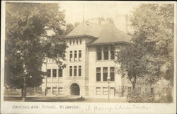 Central Ave. School Postcard
