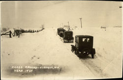 Cars on Snowy Roads 1929