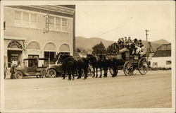 Stage Coach and Automobiles