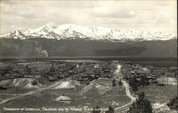 Panorama of Town with Mt Massive in the Distance Postcard