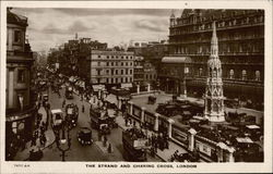 Bird's Eye View of The Strand and Charing Cross Postcard