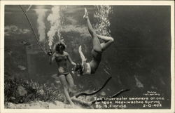 Two Underwater Swimmers on One Air Hose