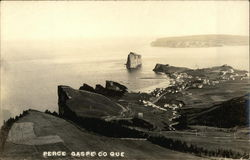 View of Town and Shoreline Postcard