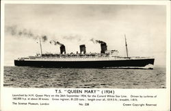 "T.S. ""Queen Mary"" 1934"