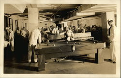 Sailors in Pool Hall