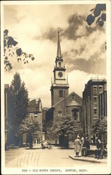 Street View of Old North Church Postcard