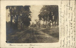Main Road in Madison Postcard