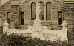 Statue of Hope Fountain Postcard