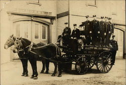 Firemen on Horsedrawn Cart