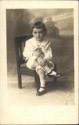 David S. Wilds in Sailor Suit on Chair