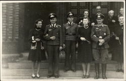 Uniformed Men with Ladies