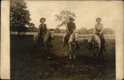 Three Men on Horseback
