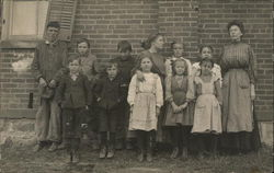 Group of Boys and Girls Standing for a Class Picture