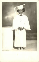 Little Black Girl in Graduation Uniform, Age 6