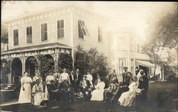 Family Photograph in front of white mansion, July 4th, 1907