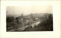 Railway Lines And View Of Binghamton