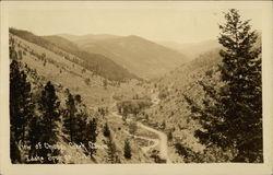 View of Chicago Creek Canyon