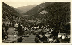 View of Town in Wooded Valley - Idaho?