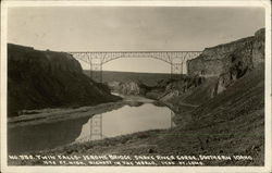 No. 556. Twin Falls - Jerome Bridge, Snake River Gorge, Southern Idaho.