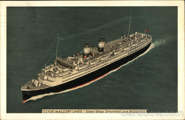 Clyde-Mallory Lines Sister Ships Shawnee and Iroquois