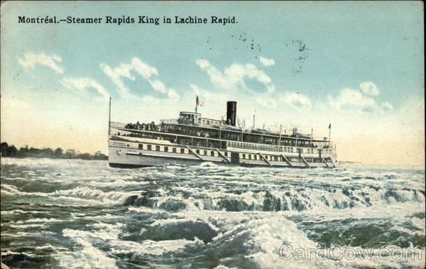 Steamer Rapids King in Lachine Rapid Montreal Canada