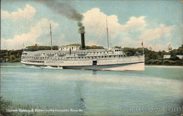 Steamer Ransom B. Fuller on the Kennebee River Maine
