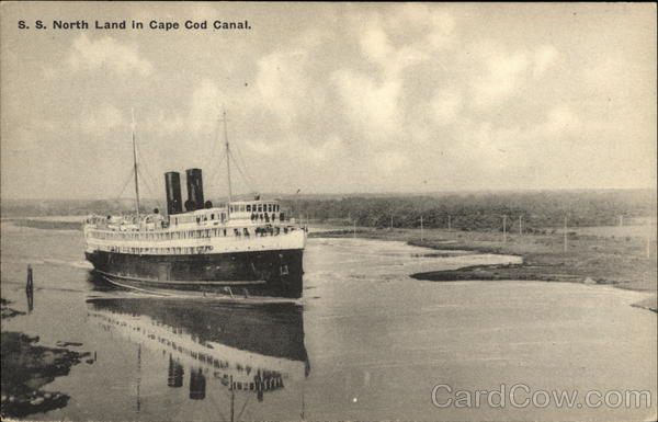 SS North Land in Cape Cod Canal Massachusetts Steamers