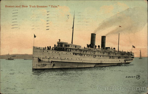 Boston and New York Steamer Yale Steamers