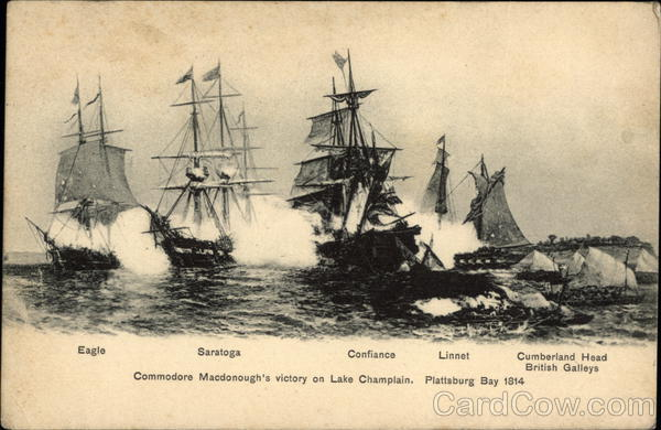 Commodore Macdonough's Victory on Lake Champlain Sailboats