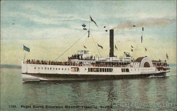 Puget Sound Excursion Steamer Yosemite Seattle Washington