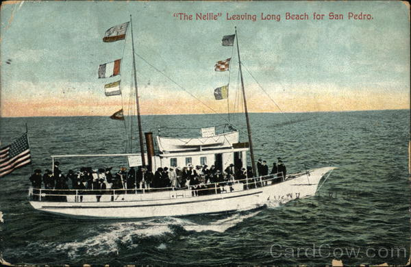 The Nellie Leaving Long Beach for San Pedro California