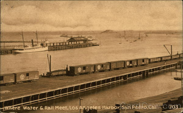 Where Water and Rail Meet, Los Angeles Harbor San Pedro California