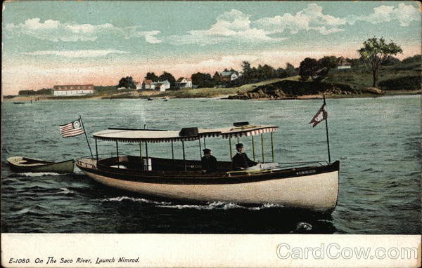 On the Saco River, Launch Nimrod Boats, Ships