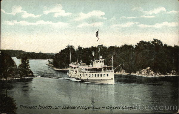 Str. Islander of Folger Line in the Lost Channel Thousand Islands New York