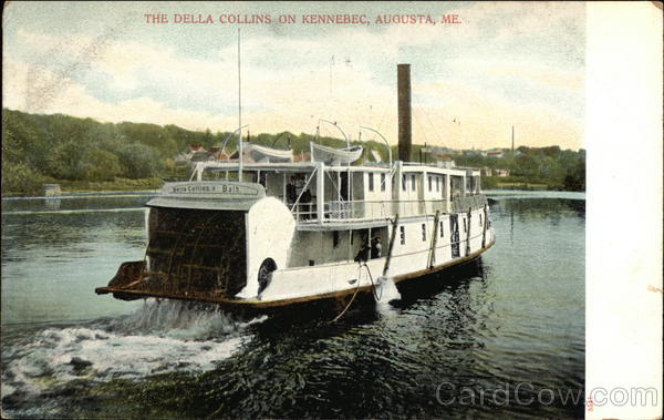 The Delia Collins on Kennebec Augusta Maine Boats, Ships