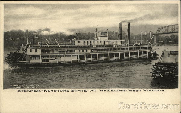 Steamer Keystone State Wheeling West Virginia Steamers